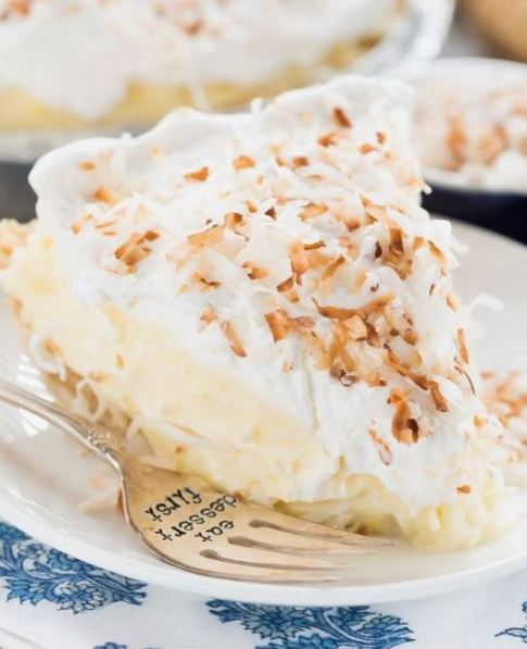 This coconut cream pie is a great no bake dessert!
