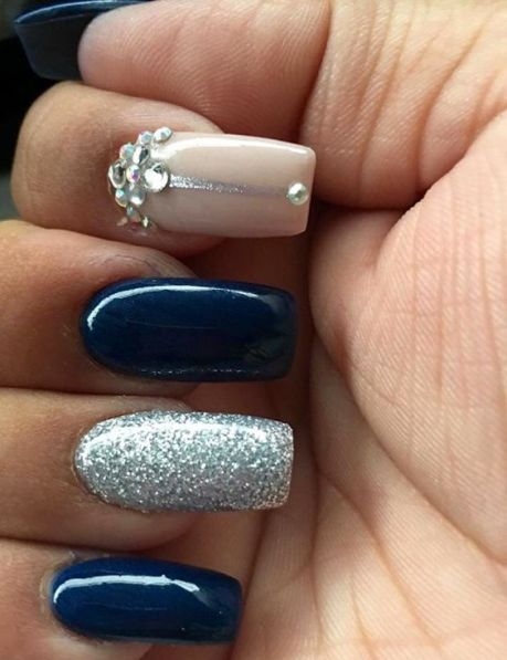 20 Stunning Blue Wedding Nails You'll Want To Copy - Society19