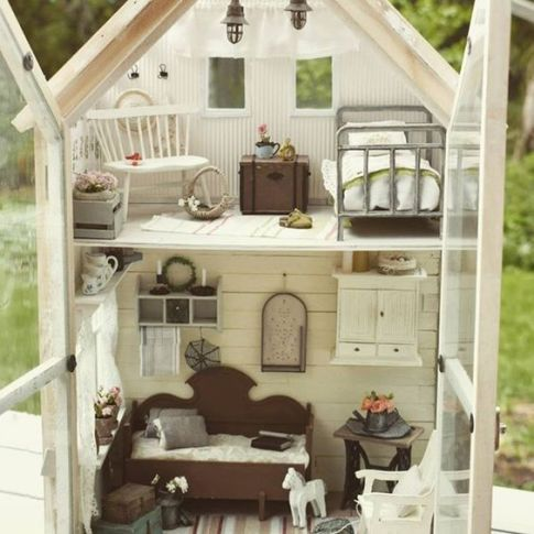 Glass Dollhouses!