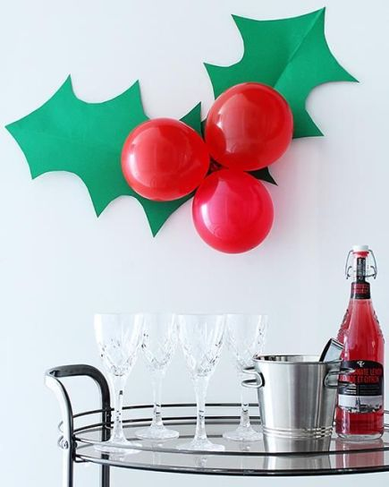 This decoration is a great Christmas party idea!