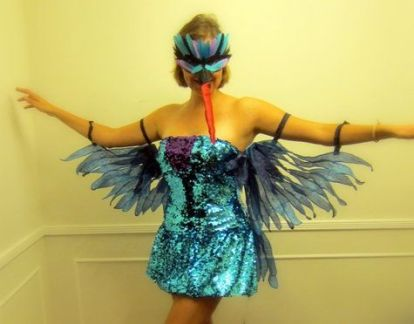 Hummingbird wing costume!