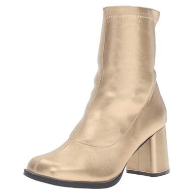 Metallic ankle boots are so in right now!
