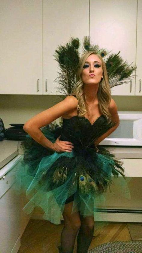 Peacock wing costume!