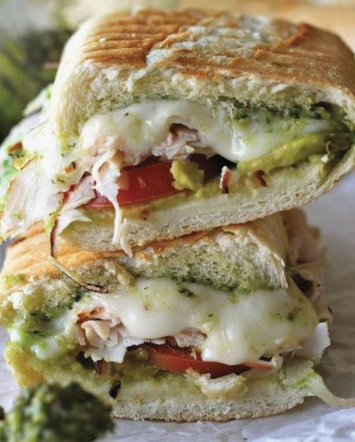 This pesto panini is a great turkey sandwich!