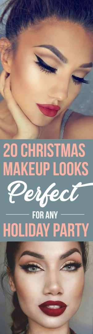 These Christmas makeup looks are perfect for any holiday party!