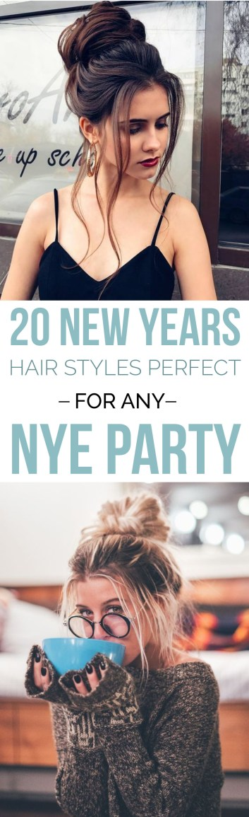 These New Years Eve hairstyles are perfect for any NYE party