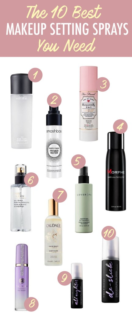Here's a list of the 10 best makeup setting spray you need!