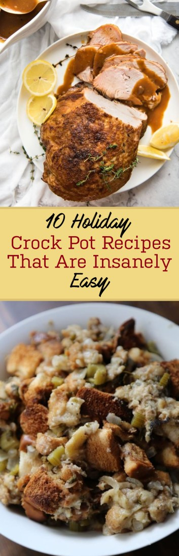 These holiday crock pot recipes are so easy you NEED to try them!