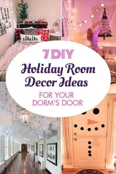 7 DIY Holiday Room Decor Ideas For Your Dorm's Door