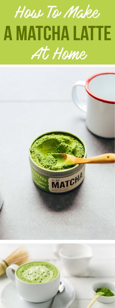 Here's how to make a matcha latte at home!