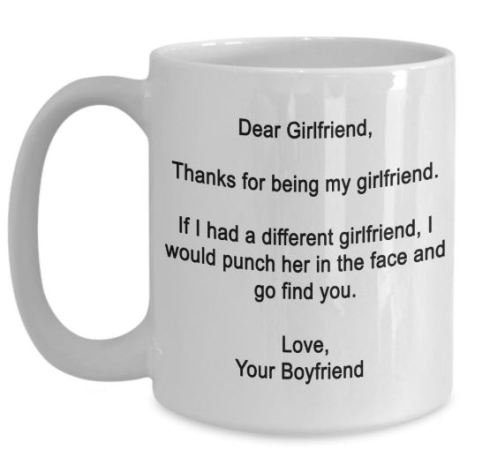 This mug is such a unique gift for your girlfriend!