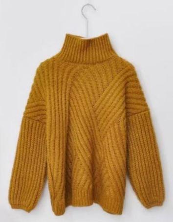 Such a cute mustard turtleneck sweater