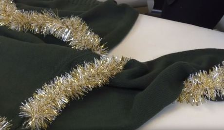 This ugly Christmas tree sweater is perfect for your next holiday party!