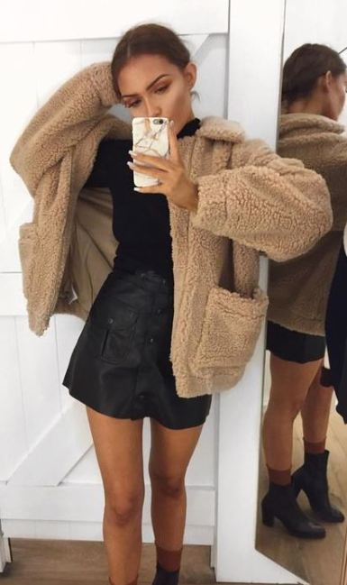 I love this teddy coat outfit!