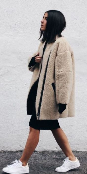 I love oversized teddy coats for the winter!