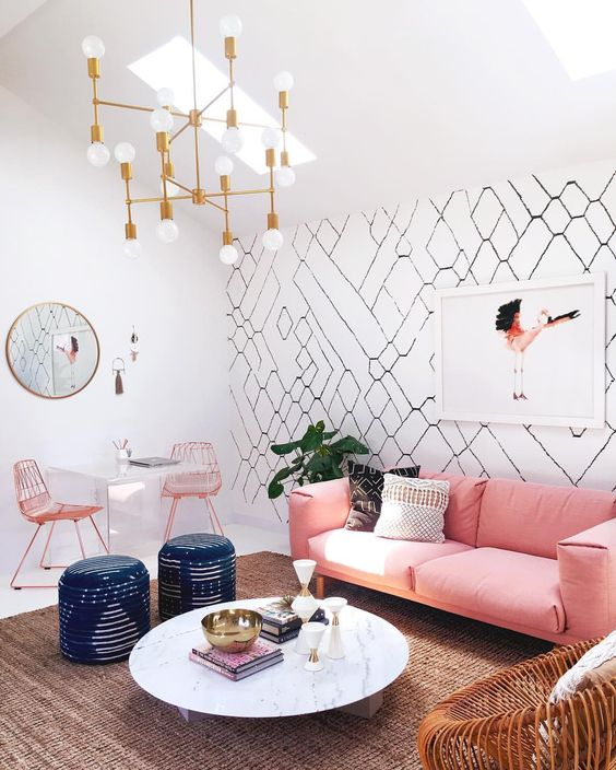 Try one of the best cute living room ideas with pops of pastels.