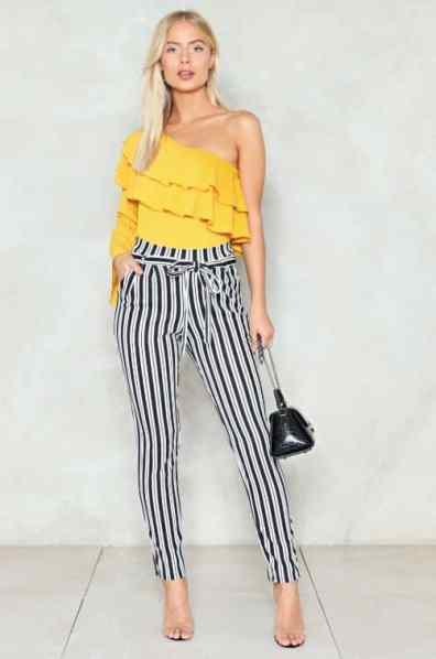 High Wasted Striped Pants