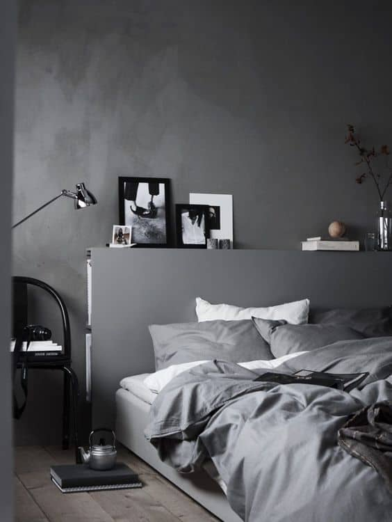 The charcoal grey color code is perfect for any living space.