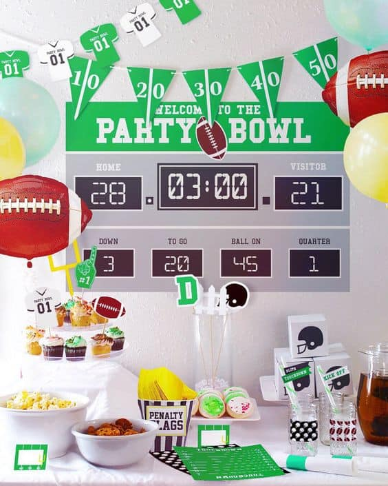Check out these football decorating ideas for your kickoff party!