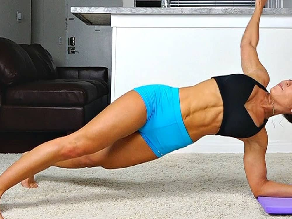 These ab exercises are perfect for anyone who doesn't have time to hit the gym! All of these ab workouts can be done from your home!