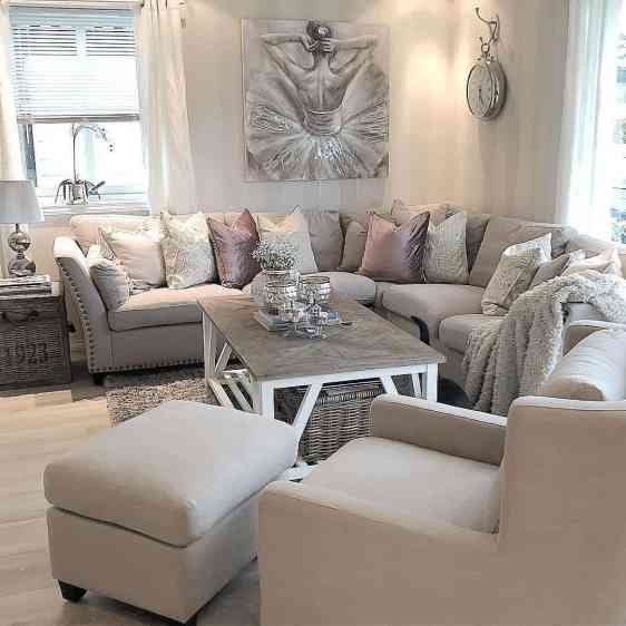 light grey modern and cozy living room decor