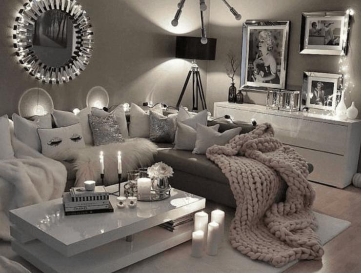 Cozy Grey Living Room