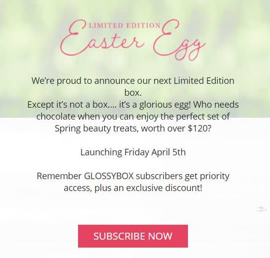 GlossyBox Is Having A Limited Edition Easter Egg Box And We're Completely In Awe