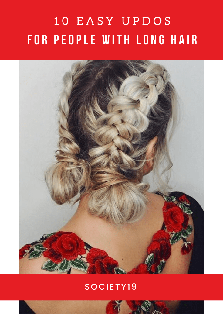 10 Easy Updos For People With Long Hair