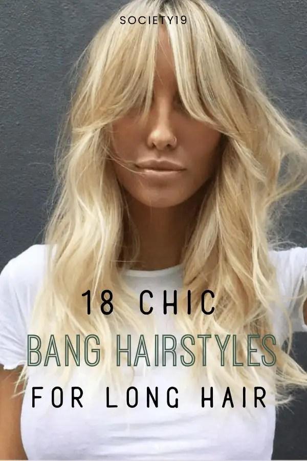 Bangs Hairstyles, 18 Chic Bangs Hairstyles For Long Hair