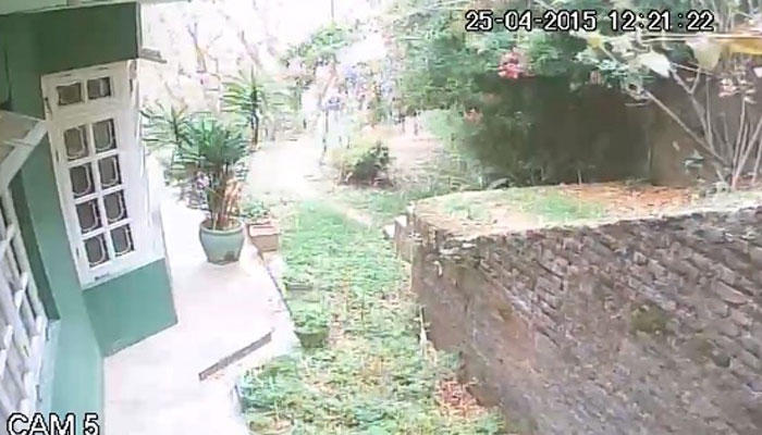 This Is What A 7.9 Magnitude Earthquake Looks Like From A Security Camera