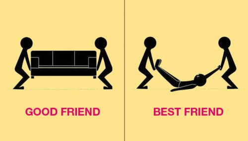 7 Images Show the Real Difference Between Good Friends and Best Friends