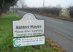 Ashton Hayes Welcome Sign