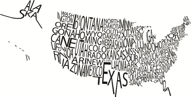 typographic-map-us