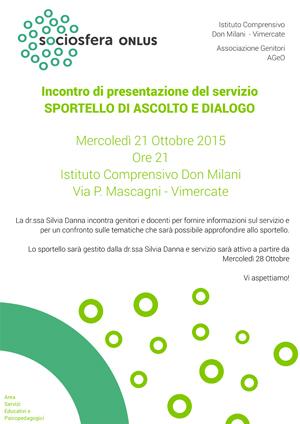 Presentazione Sportello di Ascolto e dialogo Sociosfera Onlus