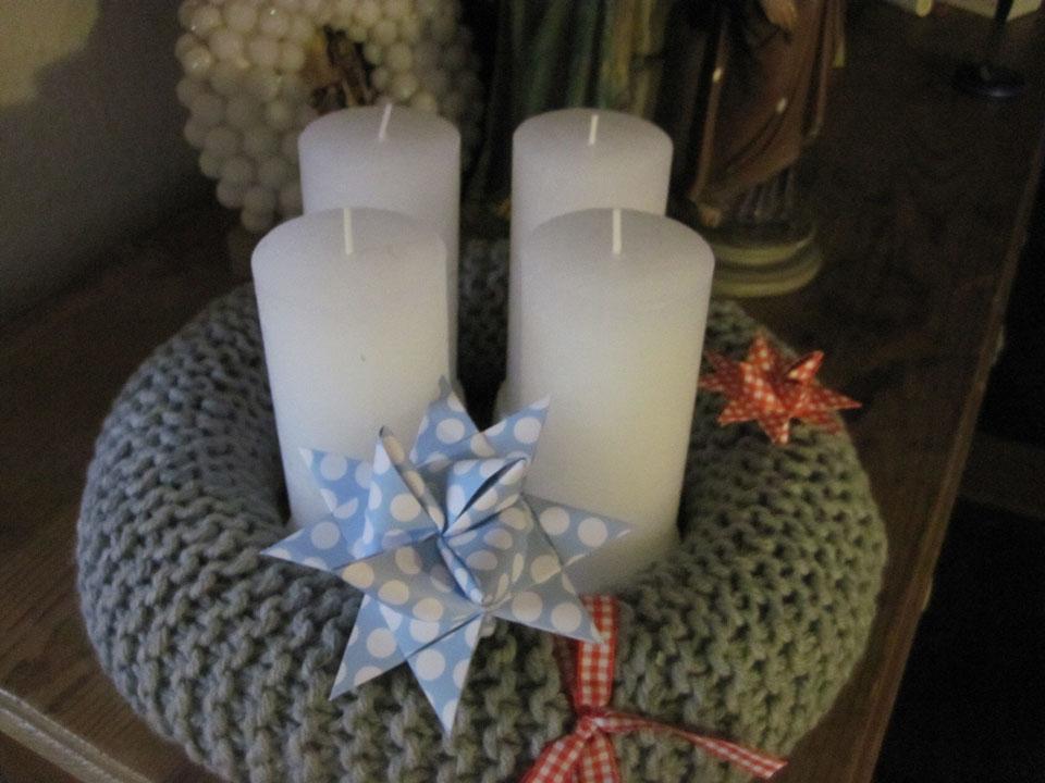 Adventskranz stricken auf sockshype adventskranz stricken Anleitung: Adventskranz stricken für Anfänger