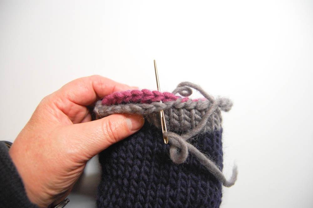 Handschuh für Getränke Weg-4 Handschuh für Getränke Anleitung: Handschuh für Getränke stricken