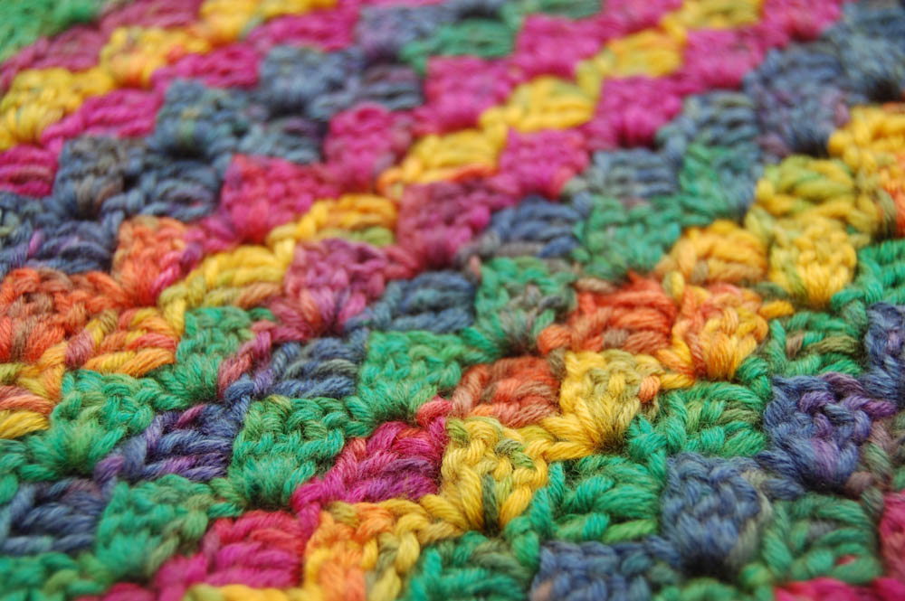 Von Ecke zu Ecke häkeln Schal 2-3  Anleitung: Schal im Muster Von Ecke zu Ecke häkeln