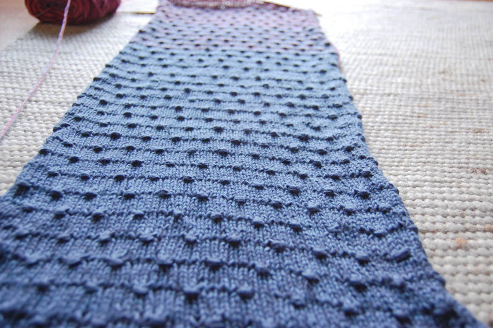 Schal stricken - Estonian Button Stich-2  Anleitung: Schal stricken mit Estonian Button Stitch