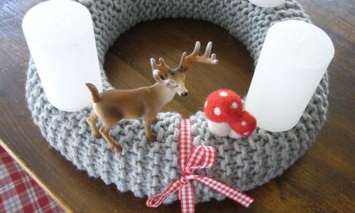 Weihnachtsdekoration selber machen Adventskranz