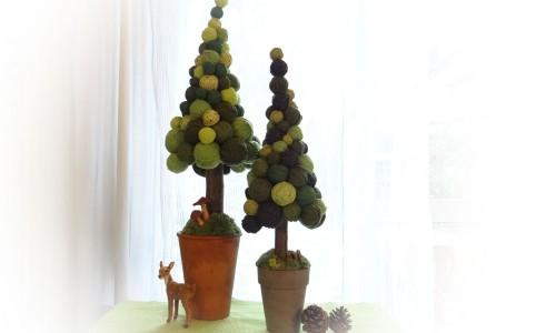 Weihnachtsdekoration selber machen - wolliger Weihnachtsbaum
