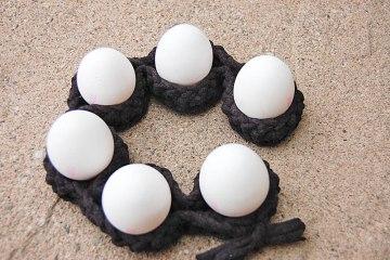 gehäkelter Eierhalter