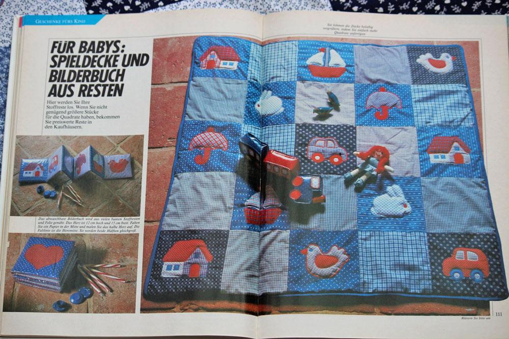 Krabbeldecke nähen - Bild aus Buch  Krabbeldecke nähen in Patchwork mit Applikationen