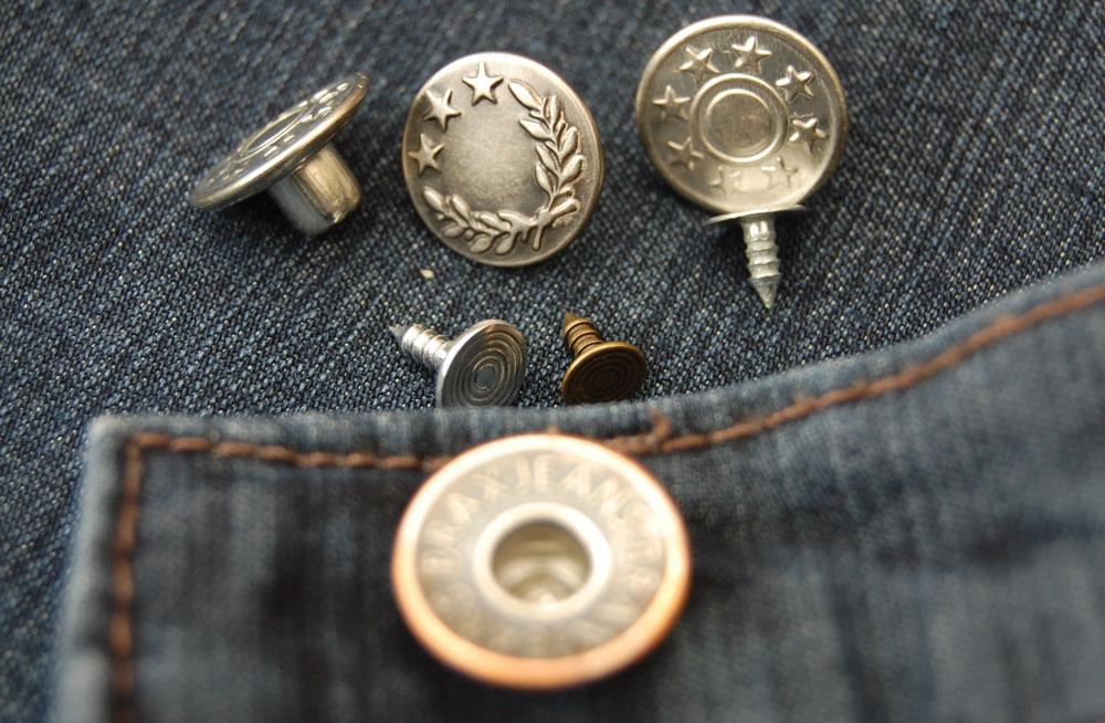 Jeans-Knöpfe knopf Zugeknöpft – Der Knopf, Verschluss und Dekoration
