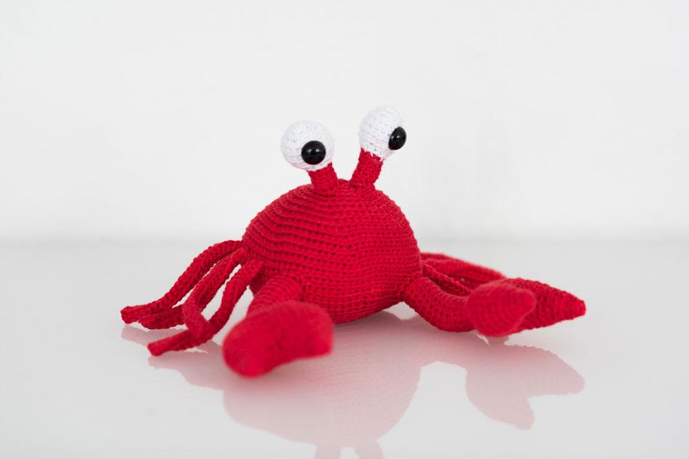 Verlosung - StrickCookie - Krabbe Carlos  Verlosung: Carlos, die süße Krabbe von StrickCookie