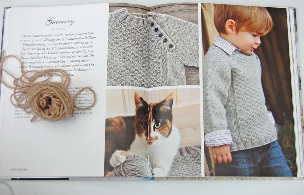 Wintertraum & Strickzauber - Guernsey Kinderpullover  Buchbesprechung: Buch <i>Wintertraum & Strickzauber</i> von epipa