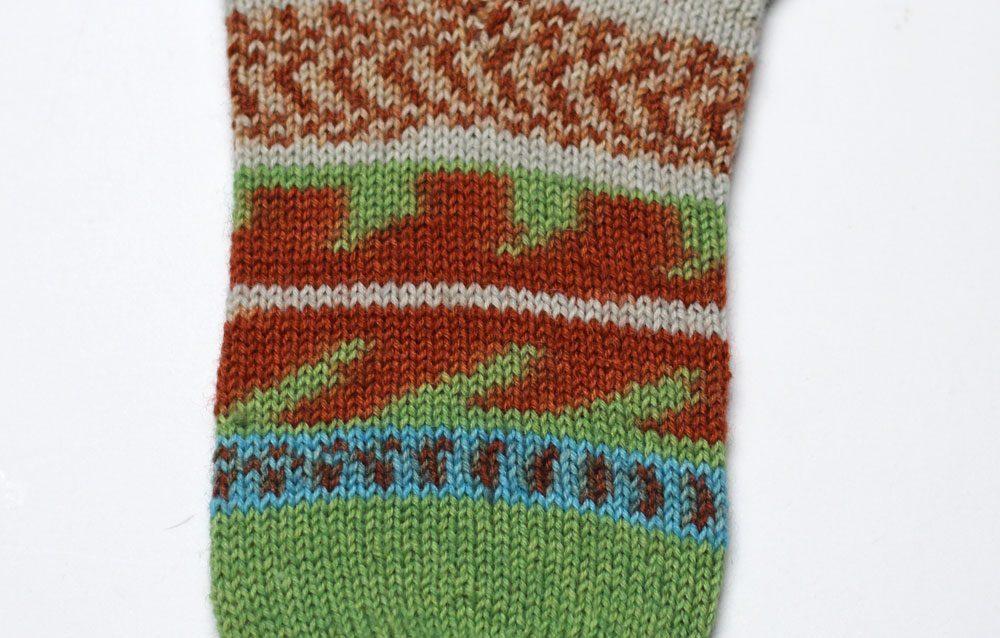 Toe Up Socken - Maschenbild beim Stricken sockenwunder Anleitung: Toe Up Socken stricken mit Sockenwunder und Regia Pairfect