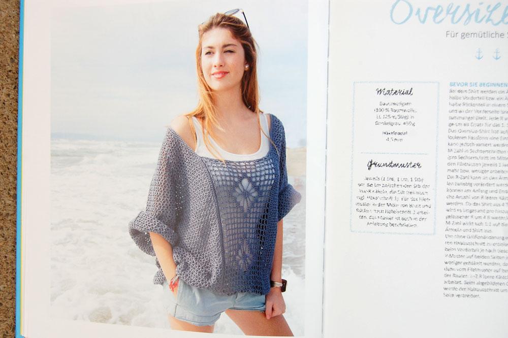 Sommer Sonne Häkelzeit - Oversize Shirt sommer sonne häkelzeit Buchbesprechung: Sommer Sonne Häkelzeit von Michaela Lingfeld-Hertner