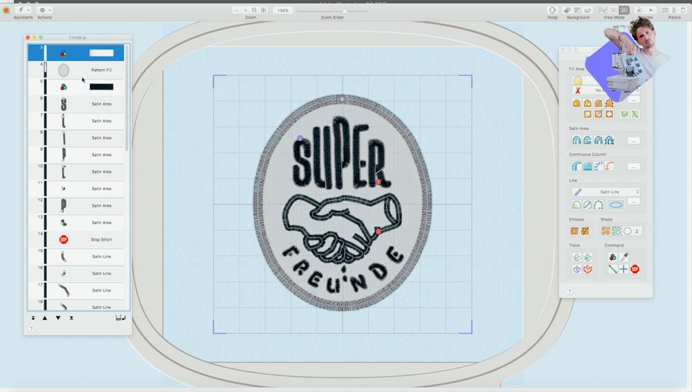 Sticksoftware TruEmbroidery zum Digitalisieren einer Stickdatei