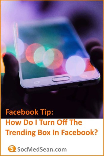 Steps for turning off the Trending box on Facebook