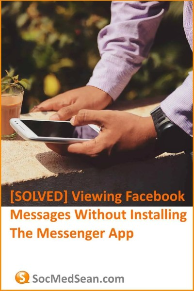 Reading Facebook Messenger messages without installing thea app